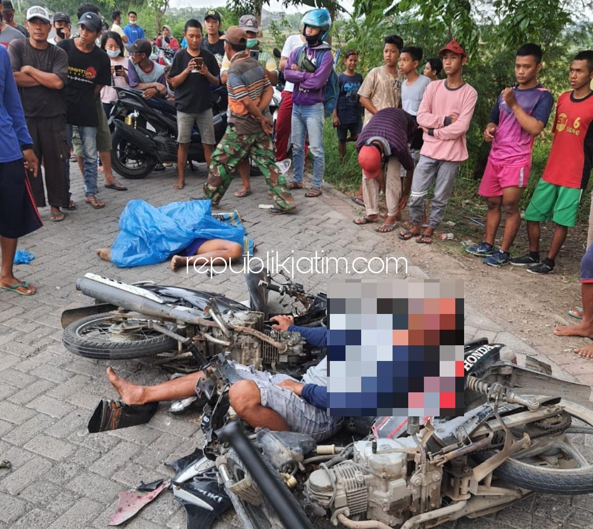 Motor Ditabrak Pemabuk, Penggali Makam Covid-19 TPU Delta Prayolo Sidoarjo Tewas