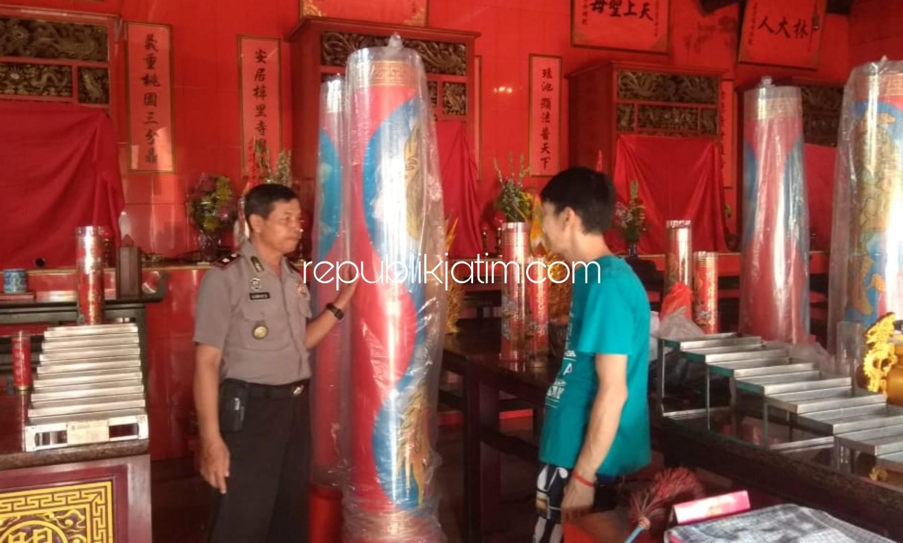 Jelang Imlek, Polisi Sterilisasi Sejumlah Klenteng di Sidoarjo