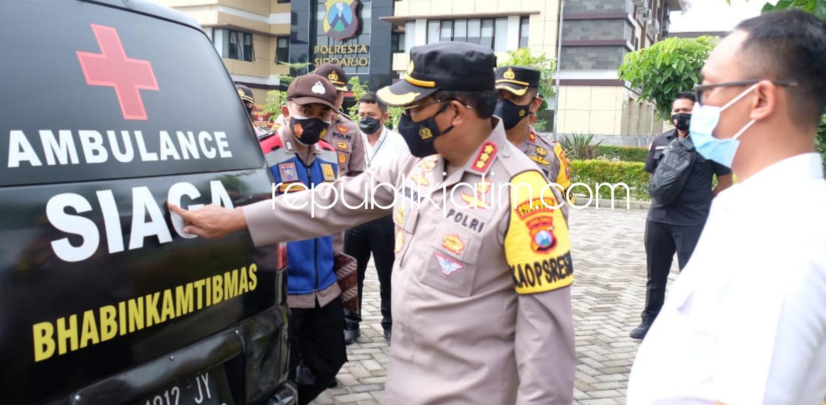 Kapolresta Sidoarjo Apresiasi Bhabinkamtibmas Sulap Mobil Pribadi Jadi Ambulan Layani Pasien Covid-19