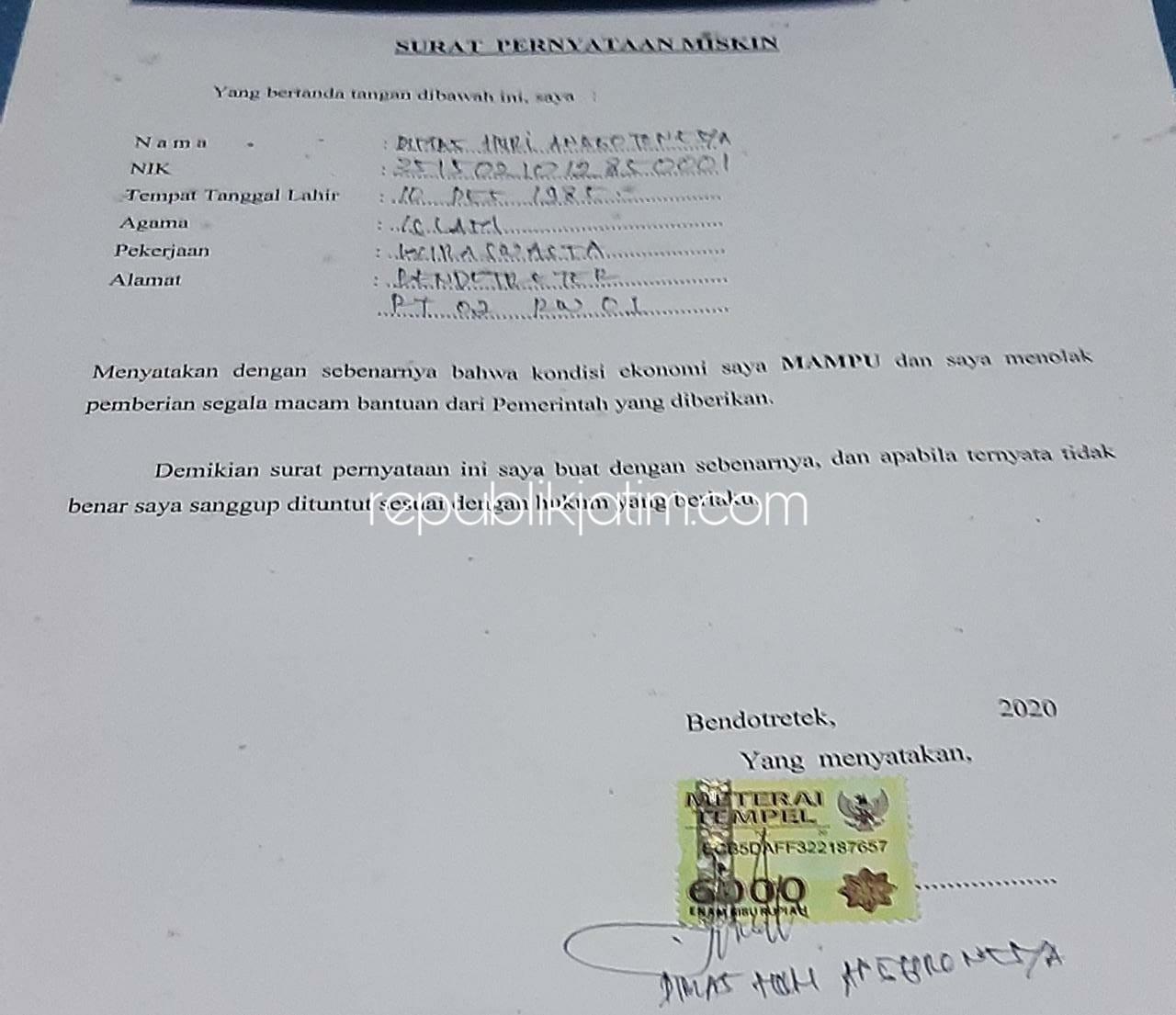 Kepala Desa Contoh Surat Keterangan Tidak Mampu Dari Rt ...