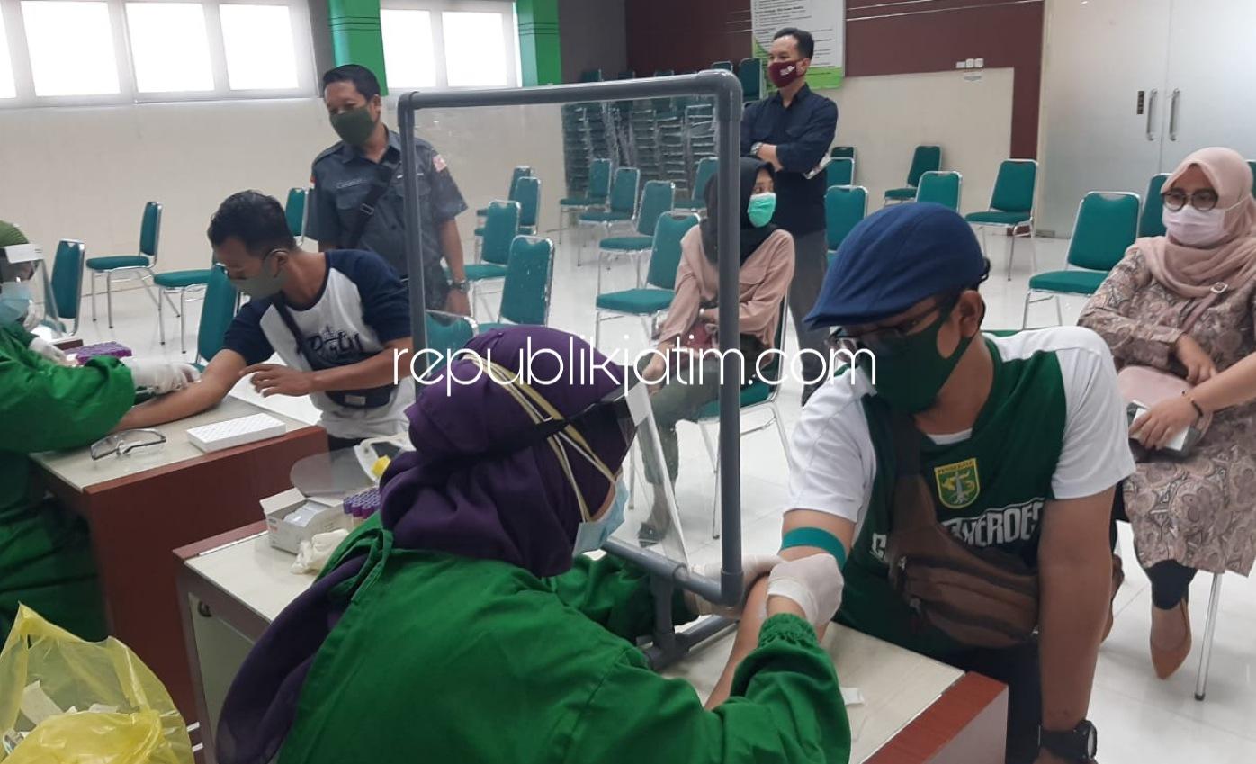 Sebelum Verfak, 1.047 PPS Pilkada Sidoarjo Jalani Rapid Test di Lima Rumah Sakit Rujukan