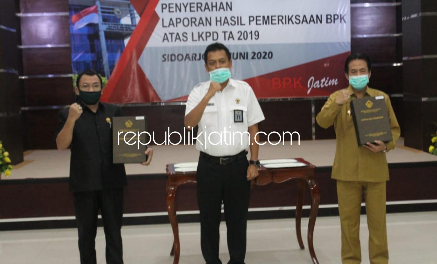 Laporan Keuangan Pemkab Sidoarjo Raih WTP Tujuh Kali Berturut-Turut