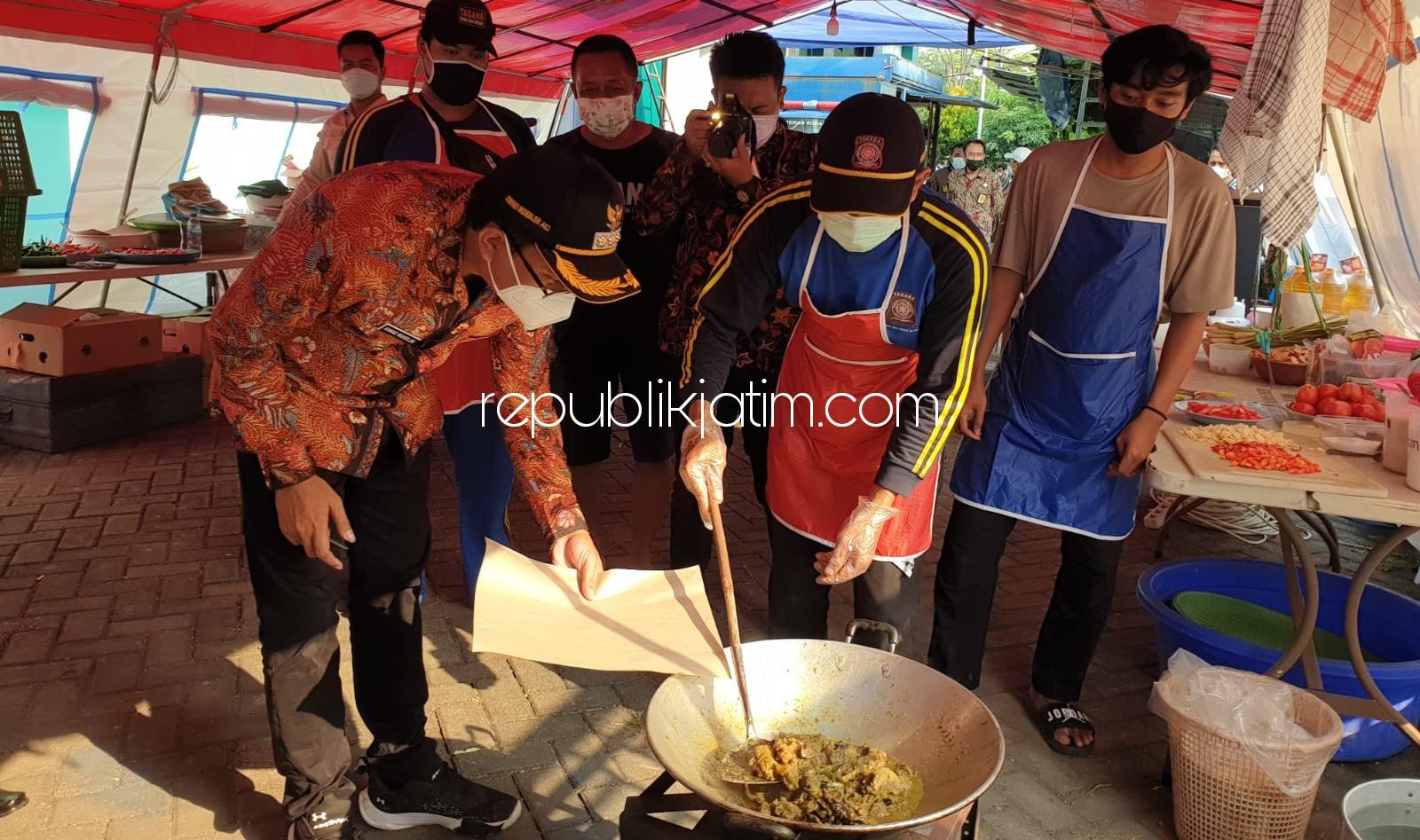 Bupati Sidoarjo Pastikan Dapur Umum Siap Pasok Makanan Bagi Isoman di 4 Shelter Penanganan Pasien Covid-19