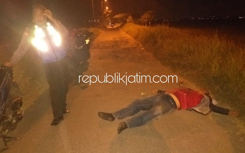 Pengendara Vario Biru Asal Mojosari Terjungkal di Jalan Gagangkepuhsari  Balongbendo