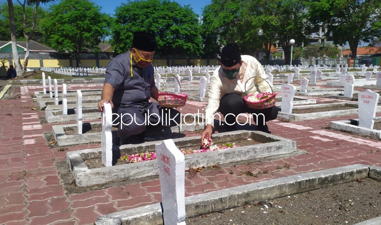 Tabur Bunga Jelang HUT RI, BHS Hargai Para Pejuang Siapkan Lahan Tambahan TMP Sidoarjo