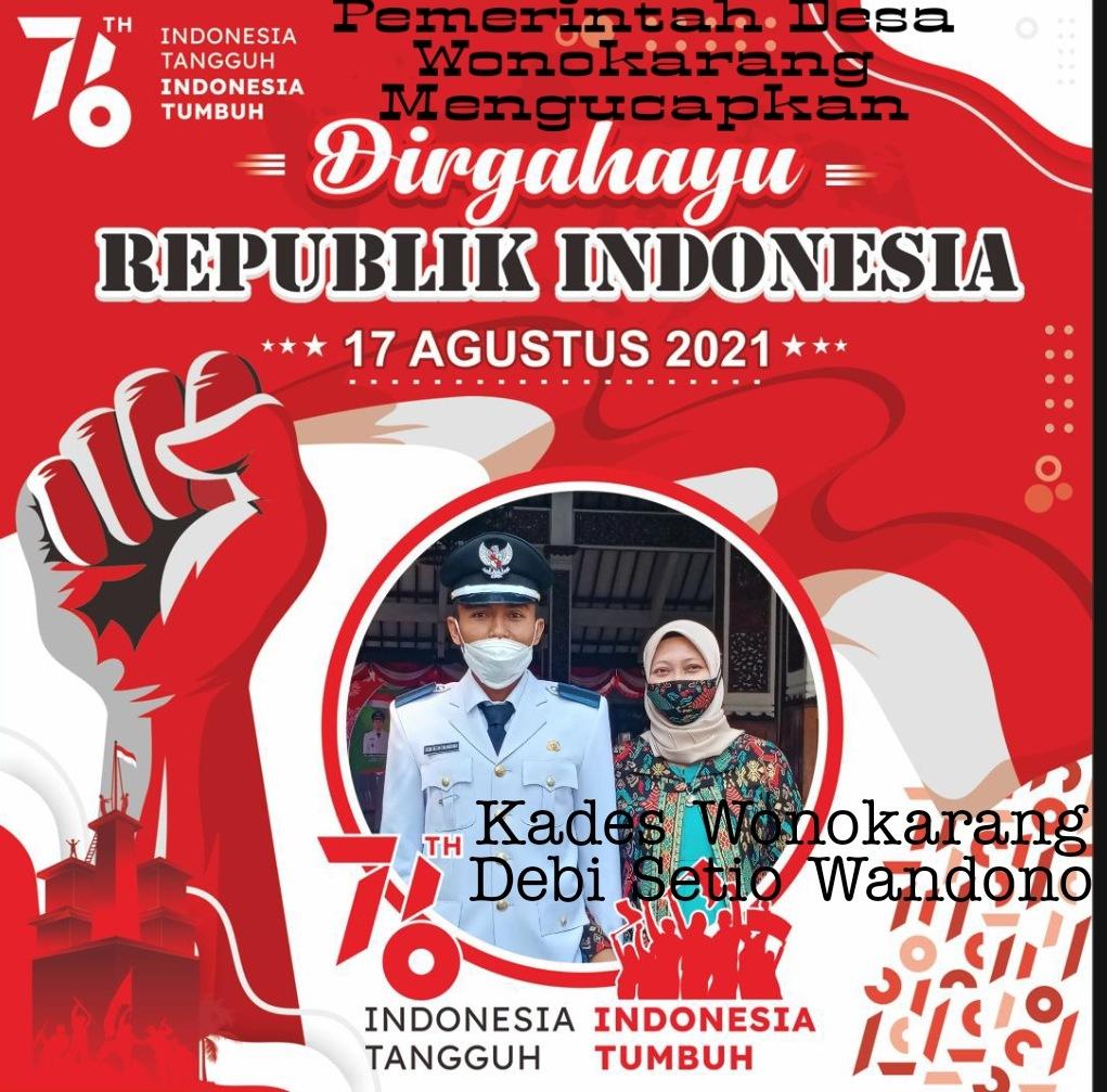 Pemerintah Desa Wonokarang, Kecamatan Balongbendo Mengucapkan Dirgahayu Republik Indonesia ke 76