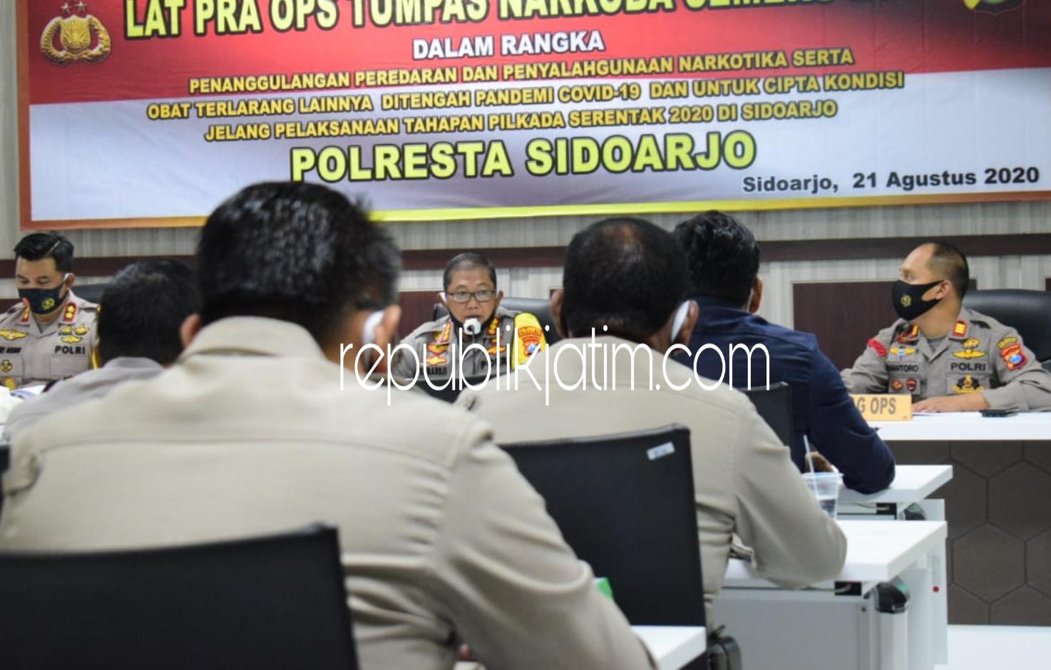 Kapolresta Sidoarjo Harapkan Hasil Maksimal dalam Operasi Tumpas Narkoba