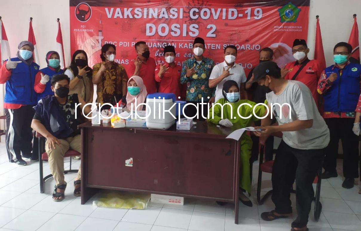 Bupati Sidoarjo Apresiasi Keterlibatan Semua Parpol Sukseskan Program Vaksinasi Ciptakan Herd Immunity