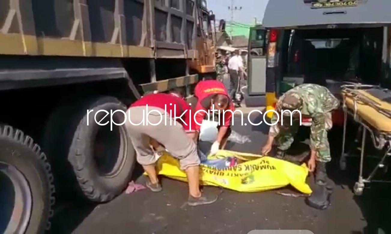 Tabrak Truk Fuso, Pemuda Pengendara Motor Asal NTT Tewas di JL Raya Porong - Krembung