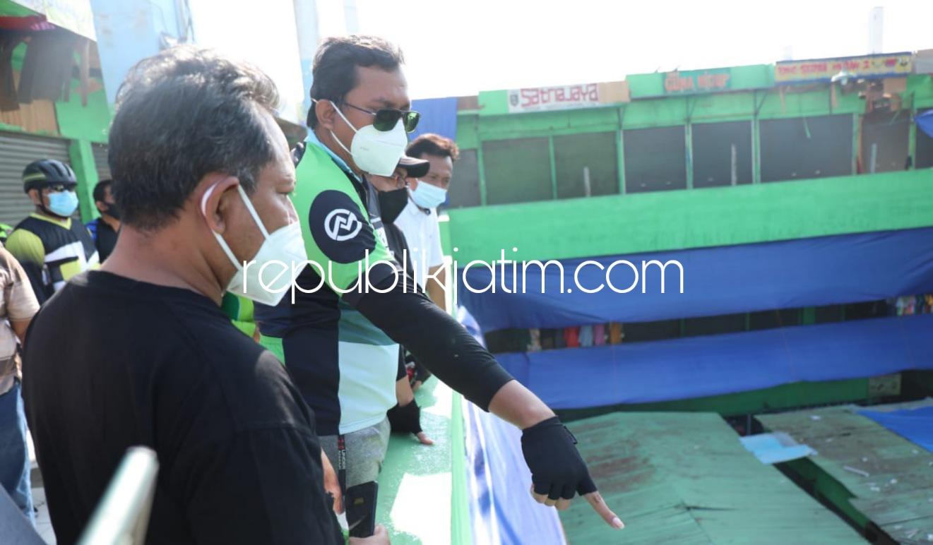 Pedagang Pasar Krian Wadul Gus Muhdlor Soal Atap Ambruk, Langsung Diperbaiki