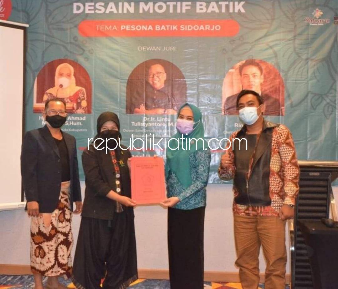 Jogjakarta, Karanganyar dan Bandung Masuk The Best Ten Lomba Desain Motif Batik Sidoarjo