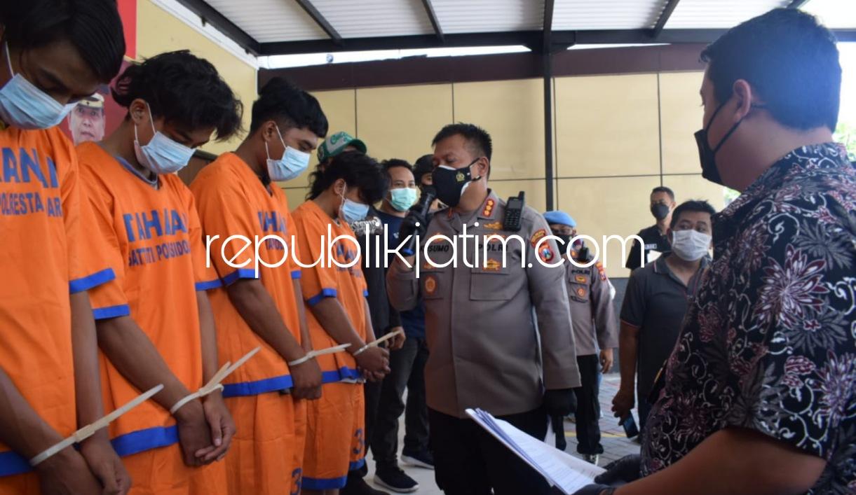 Motif Balas Dendam, Polisi Sidoarjo Ringkus 6 Tersangka Pengeroyokan Hingga Tewaskan Pelajar di Bypass Balongbendo