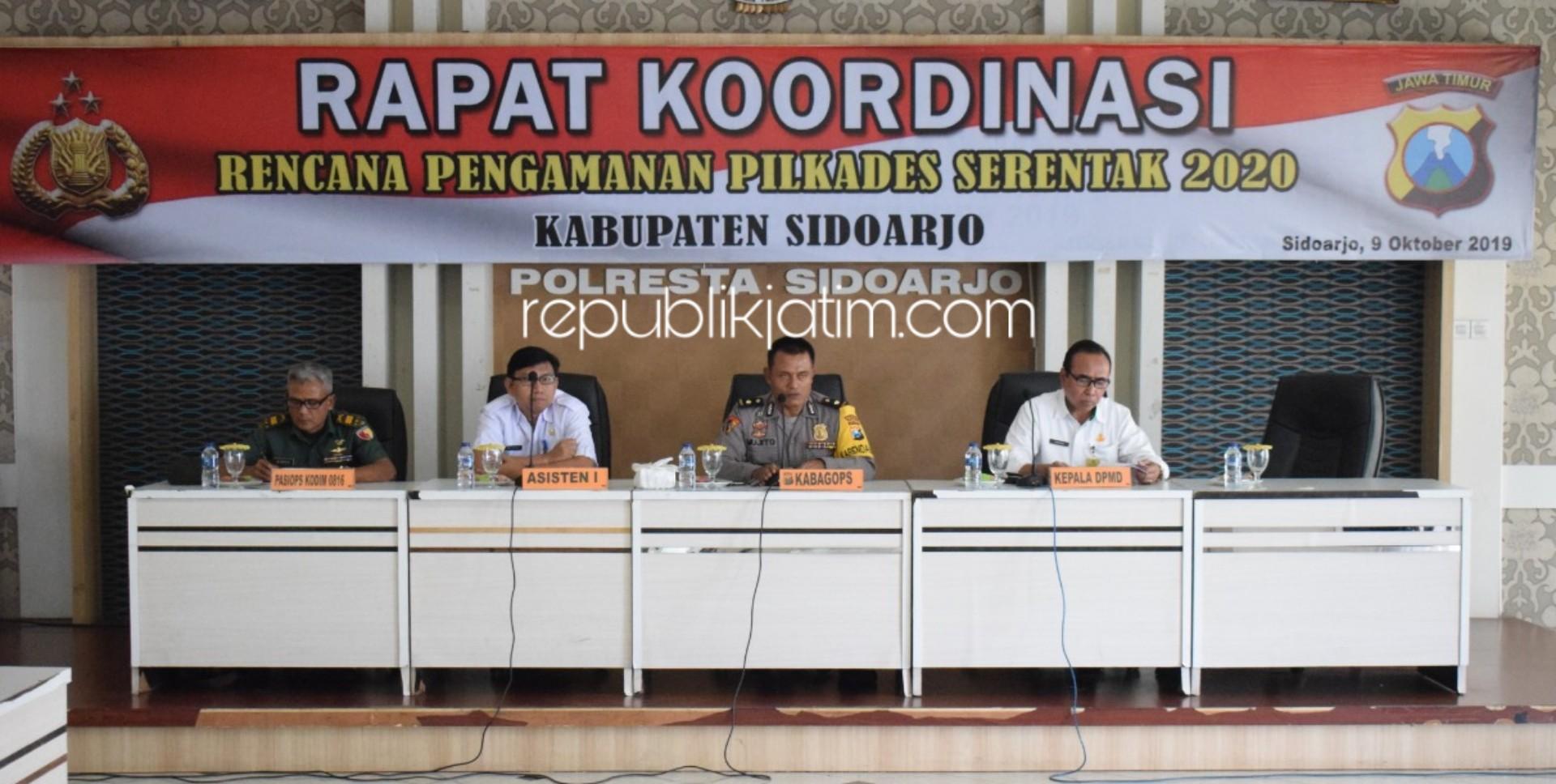 Jelang Pilkades Serentak, Polresta Sidoarjo Gelar Rakor Pengamanan
