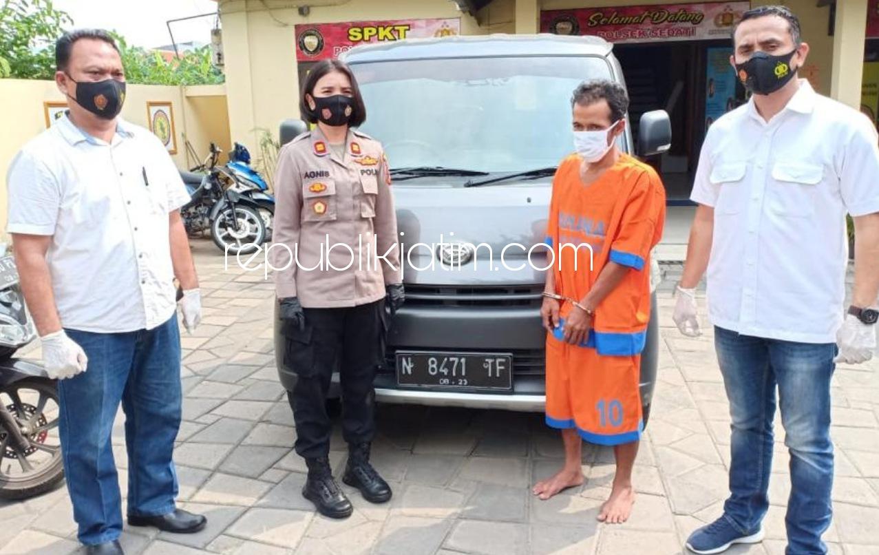 Spesialis Penadah Onderdil dan Mobil Hasil Curian Asal Pasuruan Ditaklukkan Petugas Polsek Sedati