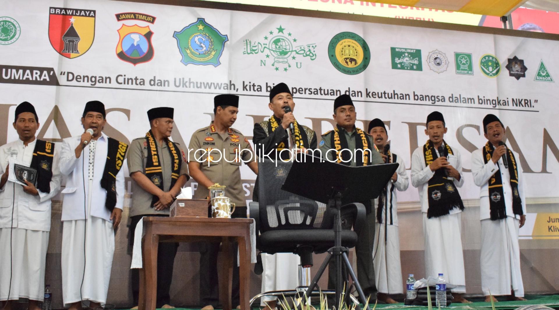 Jelang Pilkades dan Pilkada, Istighotsah dan Doa Bersama di Polresta Sidoarjo Diikuti Ribuan Jamaah