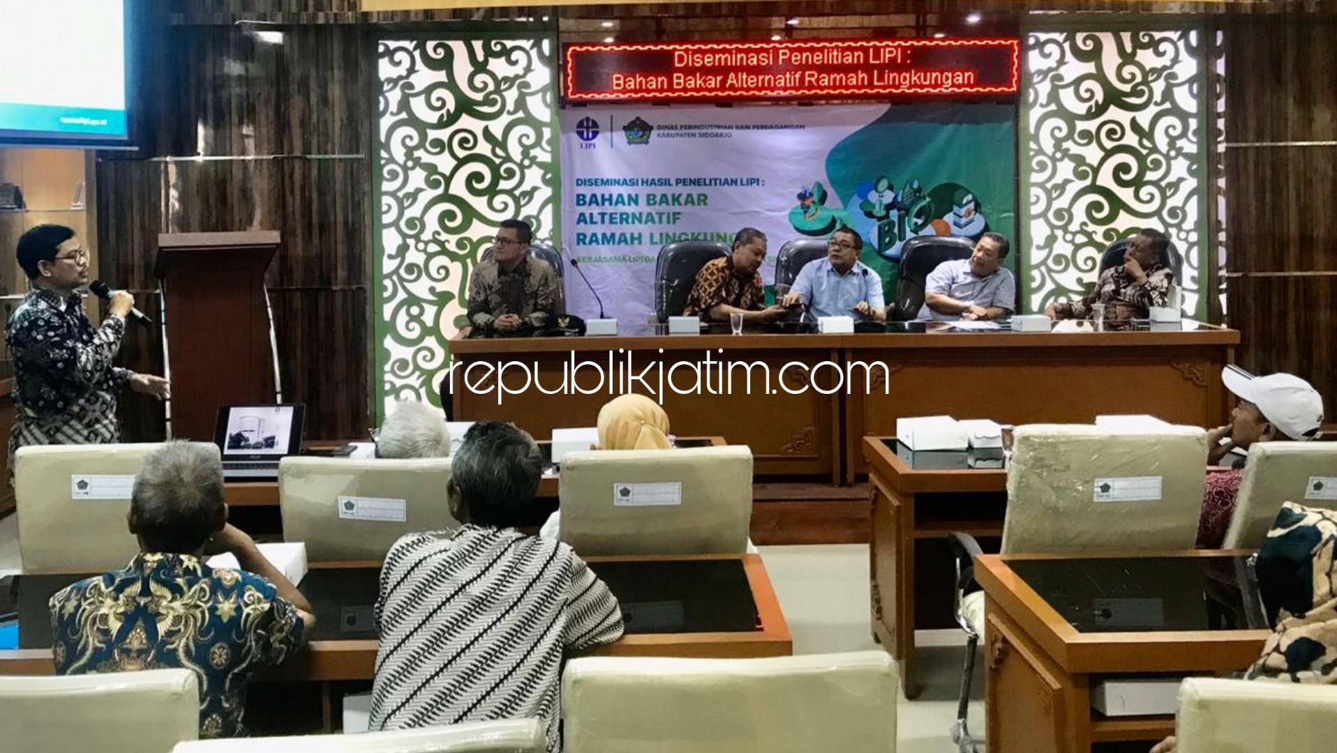 LIPI Ajak Puluhan Produsen Tahu di Tropodo Sidoarjo Pakai Bahan Bakar Alternatif Biopelet