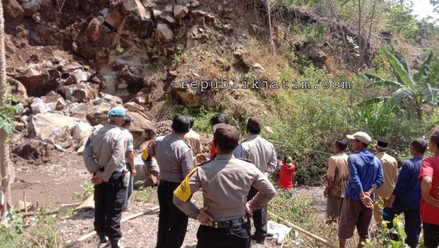 Penambang Batu di Ngawi Tewas Tertimbun Longsor