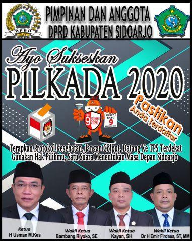 DPRD Sidoarjo Ajak Warga Sukseskan Pilkada Damai 2020