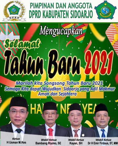 Segenap Pimpinan dan Anggota DPRD Sidoarjo Mengucapkan Selamat Tahun Baru 2021