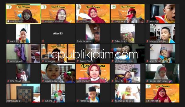 Ratusan Siswa KB-TK Al Muslim Doa Bersama untuk Korban Sriwijaya Air SJ 182 Secara Virtual