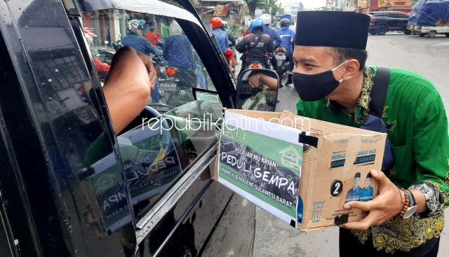 IPNU dan IPPNU Krian Galang Dana Bagi Korban Gempa Mamuju dan Majene