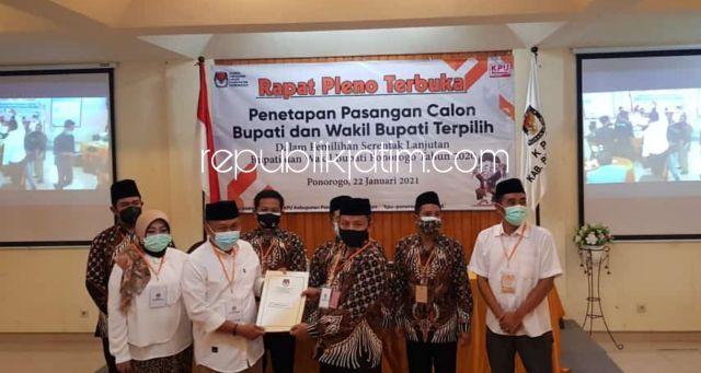 KPU Tetapkan Sugiri - Lisdyarita Sebagai Bupati Dan Wakil Bupati Ponorogo Terpilih