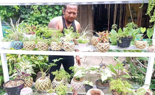 Sejak Pandemi Covid-19, Seniman Ponorogo Banting Setir Beralih Profesi Jadi Perajin Kokedama
