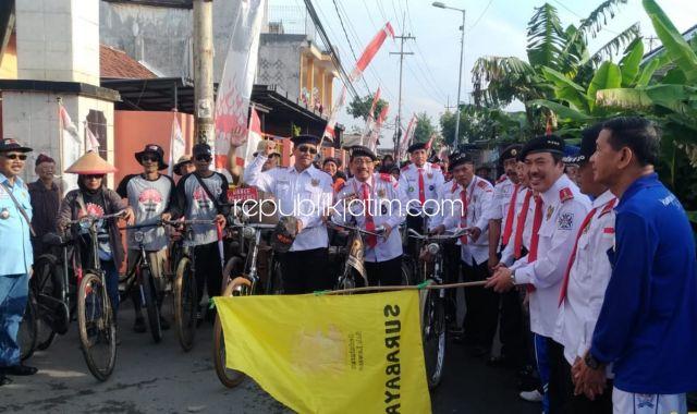 Ngonthel Bareng Paguyuban Budi Luhur Sukodono Dihadiri Onthelis Brebes Keliling Jawa
