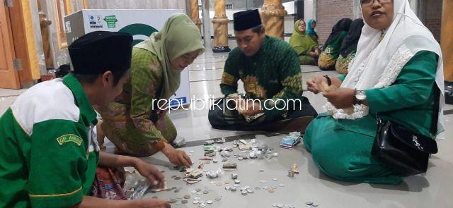 Peringatan Harlah NU di Balongbendo Diisi Sholawat Nabi, Tahlil dan Penggalangan Koin