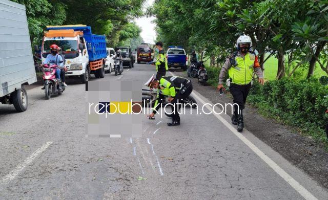 Motor Tabrak Motor di Lingkar Timur Sidoarjo, Ibu Muda Tewas Usai Dilindas Truk Mahasiswa Terluka