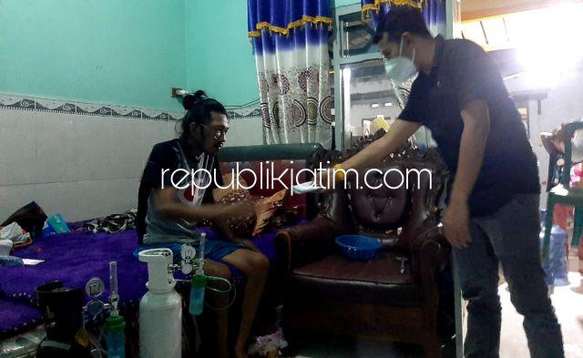 Usai Reses di Balongbendo, Anggota DPRD Jatim Langsung Beri Bantuan Penderita Paru-Paru Asal Krian