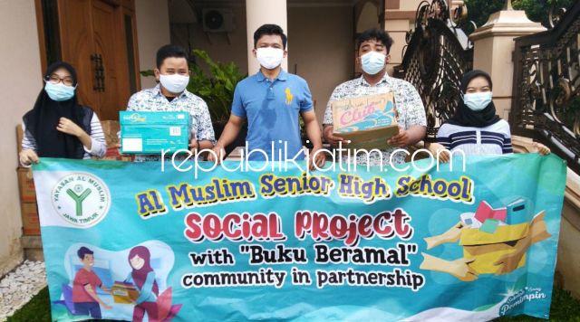 Pandemi Covid-19 Tak Mengurangi Rasa Peduli dan Berbagi Siswa SMA Al Muslim