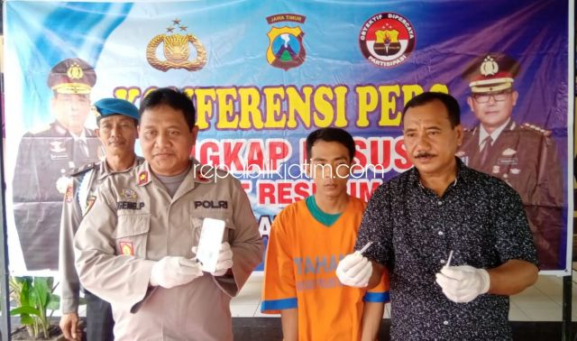 Beli Sabu-Sabu dari Ping, Pemuda Asal Prambon Diringkus Petugas Polsek Balongbendo