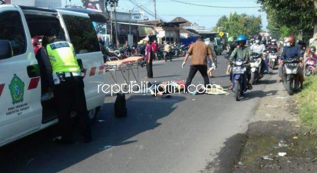 Motor Tersenggol Terjatuh, Pengendara New CB Ditabrak Rush dan Vario Tewas di Jalur Mojokerto - Surabaya