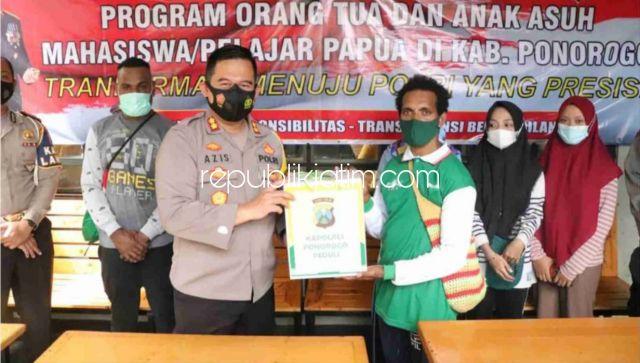 Kapolres Ponorogo Launching Program Orang Tua dan Anak Asuh Untuk Mahasiswa dan Pelajar Asal Papua