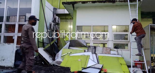 Diterjang Angin Kencang Bangunan Puskesmas Barengkrajan Krian Protol, Disidak Komisi D DPRD Sidoarjo