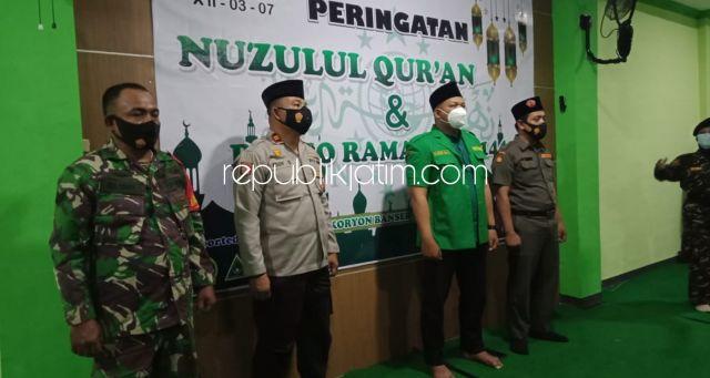 Peringatan Nuzulul Quran Sekaligus Pembukaan Posko Ramadhan 1442 Hijriyah GP Ansor Krian