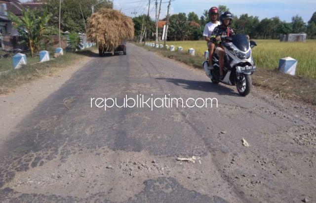Warga Keluhkan Aspal Jalan Antar Kecamatan di Ponorogo Mengelupas dan Brodol