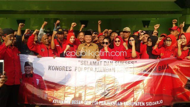 Bangun Soliditas, DPC PDIP Sidoarjo Berangkatkan Ratusan Kader ke Kongres Bali