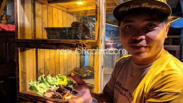Di Alam Terbuka, Kafe Reptil Sajikan Menu Andalan Nasi Meong, Kerang Hijau dan Wedang Sampah