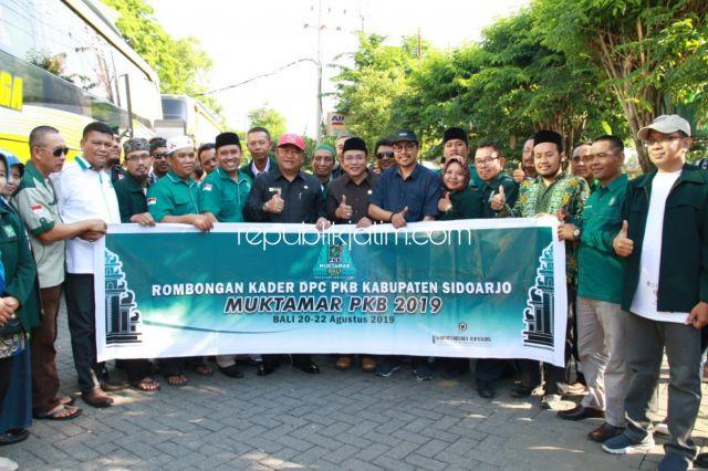 Ini Pesan Bupati Sidoarjo Saat Lepas Rombongan Muktamar DPC PKB Sidoarjo ke Bali