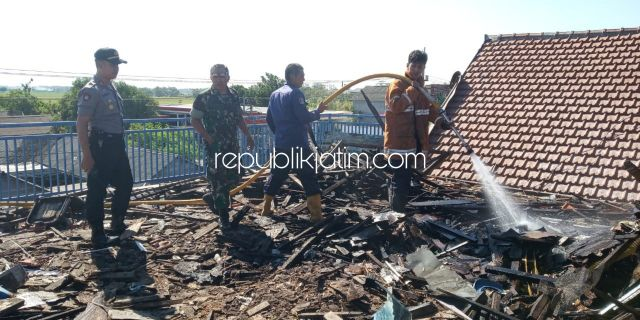 Sehari 3 Kebakaran, Termasuk Gudang Kayu SMK Wijaya Sukodono