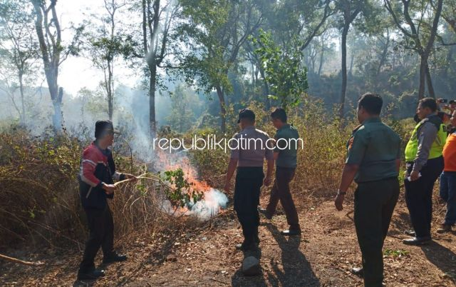 Pagi Apel Siaga, Siang Hutan Sukun di Ponorogo Terbakar