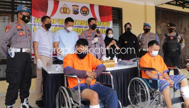 Bobol Mobil Bawa Kabur Uang Nasabah BNI RP 24,9 Juta, Dua Pemuda Sumsel Ditembak Kakinya