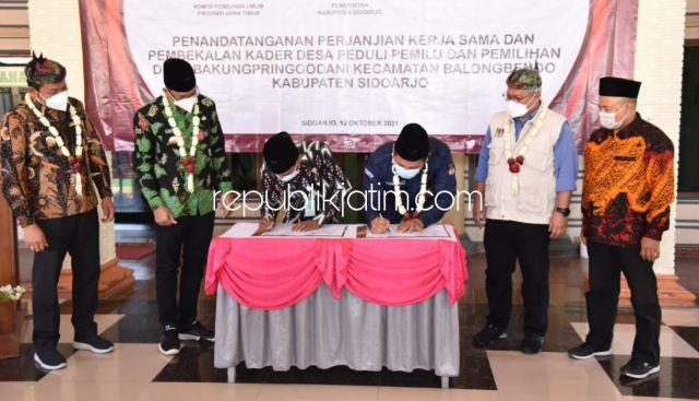 KPU RI Bersinergi dengan Pemkab Sidoarjo Wujudkan Program Desa Peduli Pemilu dan Pemilihan
