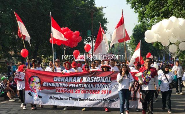 Ratusan Simpatisan Jokowi di Sidoarjo, Dukung Pelantikan Presiden-Wapres Aman dan Damai