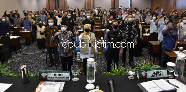 Pj Bupati Ajak Puluhan Pengusaha Rokok Sidoarjo Berkontribusi Turunkan Penyebaran Covid-19