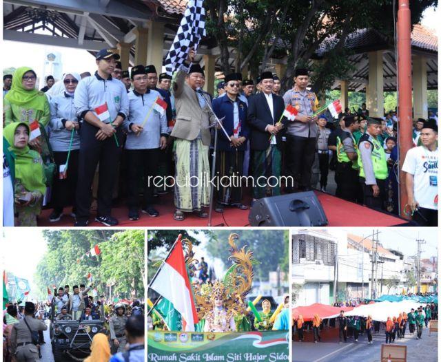 50.000 Orang Ramaikan Pawai Santri Nusantara di Sidoarjo