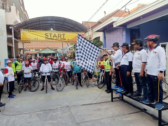 Ramaikan Hari Jadi Propinsi Jatim, 500 Goweser LDII Sidoarjo Tempu Jarak 17 KM