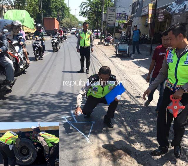 Motor Tergelincir Aspal, Warga Gedangan Tewas Dilindas Truk di Jalur Sidoarjo - Surabaya